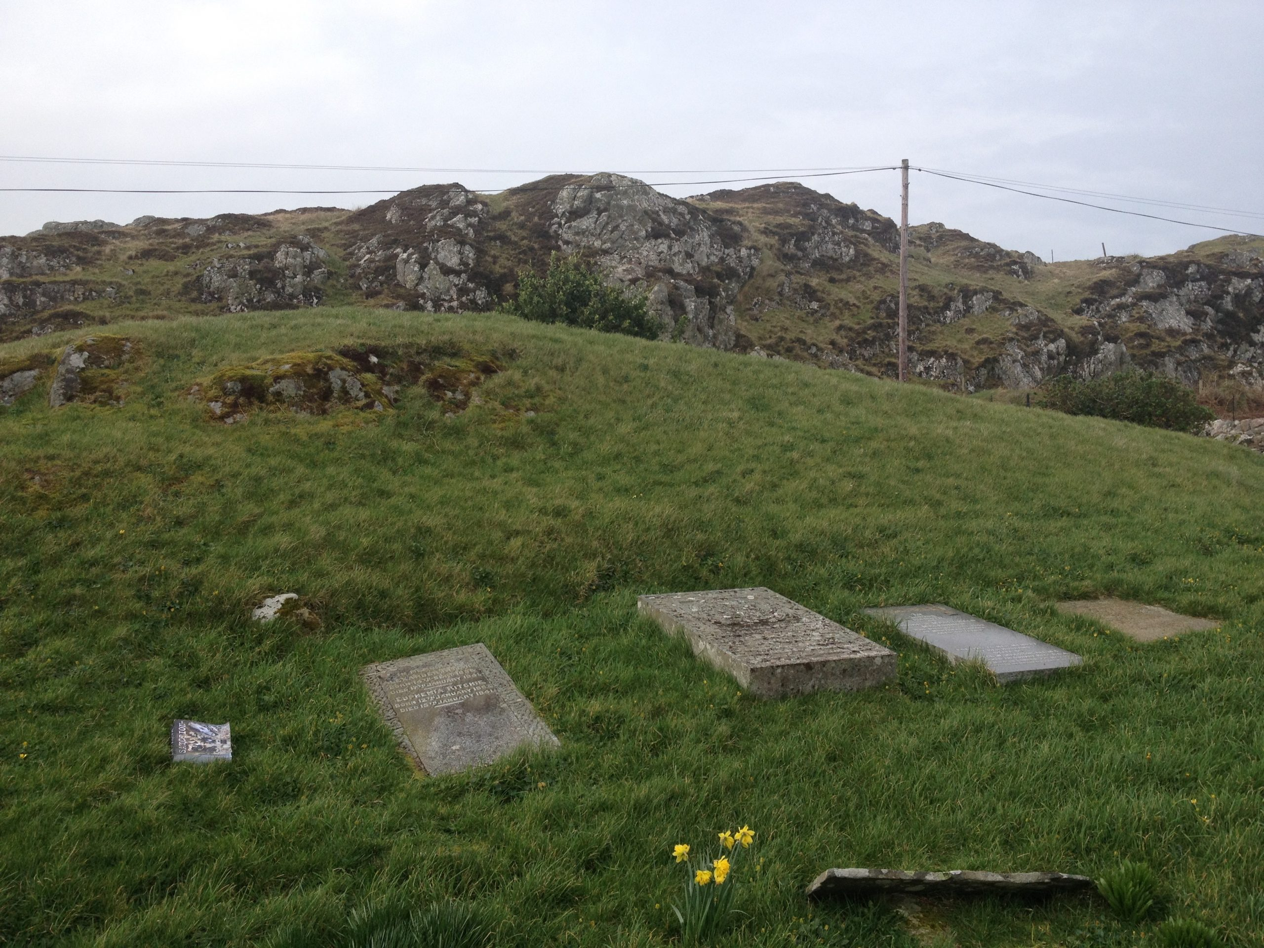 Stones (and SANCTION) in an Iona Graveyard